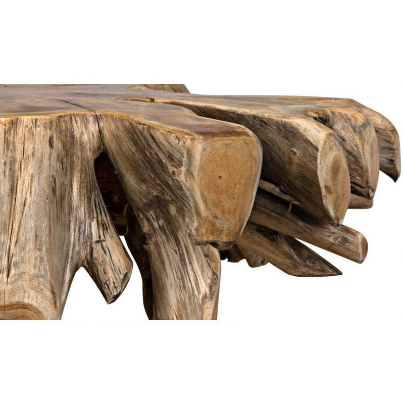 Noir Teak Root Coffee Table, Natural-Coffee/Cocktail Tables-Noir Furniture-Heaven's Gate Home