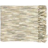 Surya Teegan Woven Acrylic Fringed Throw-Throws-Surya-Ivory-55