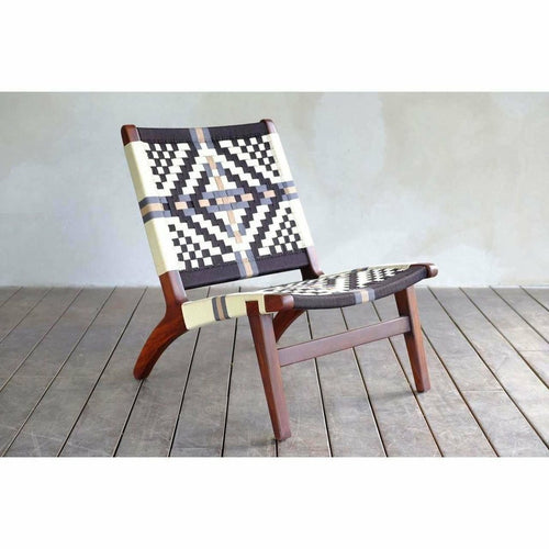Masaya Lounge Chair, Colonial Pattern-Lounge Chairs-Masaya & Co.-Heaven's Gate Home, LLC