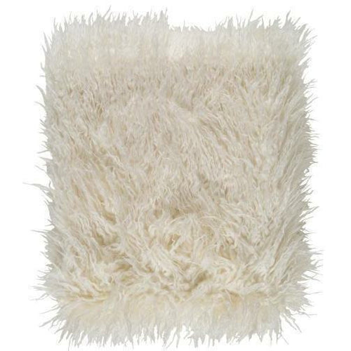 "Surya Kharaa TKH-1004 Acrylic Faux Fur Throw-Throws-Surya-Cream-50"" x 60"" Throw-Heaven's Gate Home"