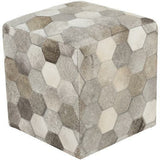 Surya Trail TLPF-001 Leather Pouf-Poufs-Surya-Brown-18
