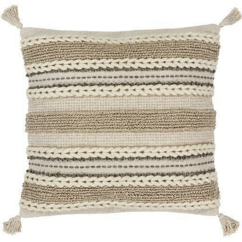 "Surya Tov TOV-001 Wool Global Pillow-Pillows-Surya-Beige-20"" x 20"" Pillow-Heaven's Gate Home"