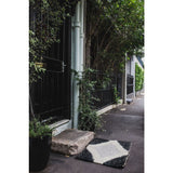 Langdon LTD Gem Black/Silver Jute Doormat, Metallic Thread-Doormats-Langdon, LTD-20