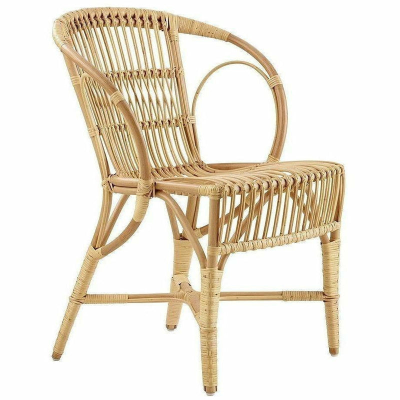 Sika-Design Icons Rattan Wengler Dining Chair, Indoor-Dining Chairs-Sika Design-Polished Natural-Heaven's Gate Home