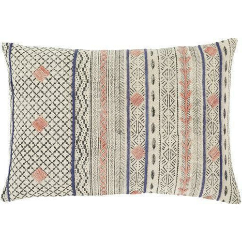 "Surya Zoya ZYA-001 Cotton Global Pillow, Set/2-Pillows-Surya-Beige-16"" x 24"" Pillow, Set/2-Heaven's Gate Home, LLC"