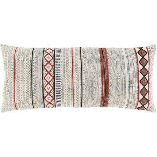 "Surya Zoya ZYA-008 Cotton Global Pillow-Pillows-Surya-Beige-14"" x 32"" Pillow-Heaven's Gate Home"