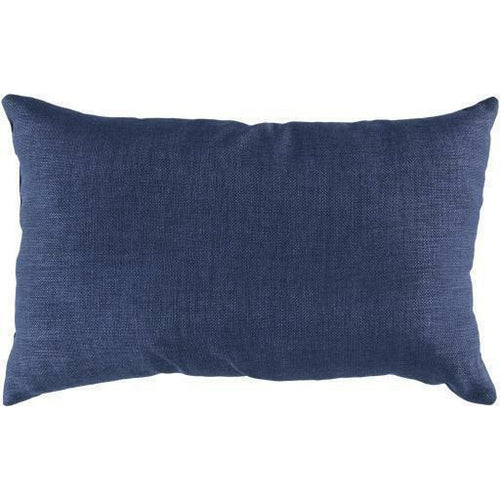 "Surya Storm Polyester Woven Pillow, Indoor/Outdoor-Pillows-Surya-13"" x 20"" Pillow-Navy-Heaven's Gate Home"