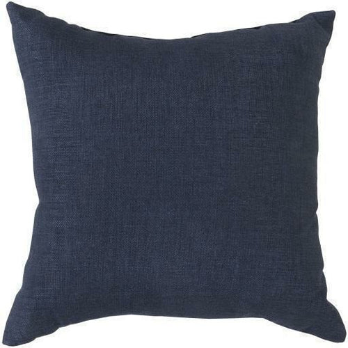 "Surya Storm Polyester Woven Pillow, Indoor/Outdoor-Pillows-Surya-18"" x 18"" Pillow-Navy-Heaven's Gate Home"