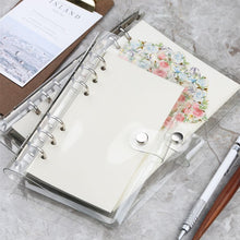 Load image into Gallery viewer, A5 A6 Spiral transparent PVC Notebook Cover Loose Diary Coil Ring Binder Filler Paper Seperate Planner Receive Bag Card Storage