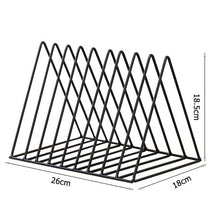 Load image into Gallery viewer, Solid 9 Grid File Storage Shelf Book Stand Desktop Nordic Wrought Iron File Book Holder Office Desk Storage Book Organizer