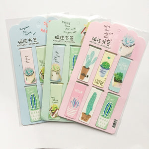 6 pcs/lot Green plant cactus Magnet Bookmark Paper Clip School Office Supply Escolar Papelaria Gift Stationery