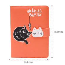 Load image into Gallery viewer, A6 Cute Girl Coloring Notebook Portable Illustration Weekly Planner 2020 Notepad Creative Travelers Journal Diary Notebook