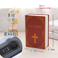 Load image into Gallery viewer, Size S Mini Password Lock Safety Box Money Storage box Hidden Secret Safe Steel Simulation Classic Book Key Safe Box Piggy Bank