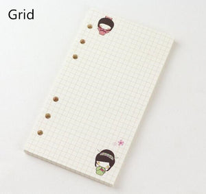 45 Sheets Kawaii A5 A6 Loose Leaf Notebook Paper Refill Spiral Binder Index Inner Pages Monthly Weekly Daily Planner Agenda