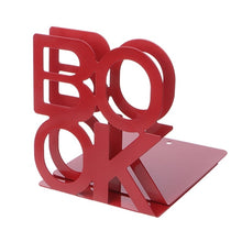 Load image into Gallery viewer, Alphabet Shaped Metal Bookends Iron Support Holder Desk Stands For Books   LX9A