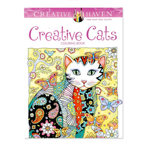 Creative Haven Creative Cats Coloring Books For Adults 24pages Stress Relieving Antistress Coloring Book Adult Coloring Books