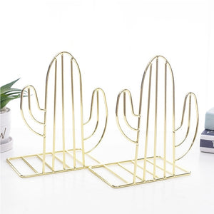 2pcs Desk Organizer Holder Decorative Stand Storage Support Book Shelf Home Bookends Office Study Nordic Style Cactus Shaped