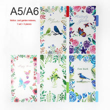 Load image into Gallery viewer, Creative A5 A6 A7 Colored Notebook Index Page Matte Cover Spiral Diary Planner Paper Note Book Category Pages Stationery
