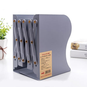 NEW Retractable Adjustable Metal Bookends Heavy Duty Book Desktop  Creative File Folder Stand Bookshelf Rack Holder