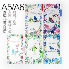 Load image into Gallery viewer, Transparent loose leaf binder loose strap loose leaf inner core  A6 A7 note book journal a5 planner office supplies