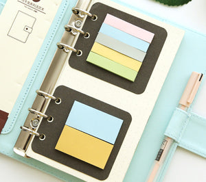 Transparent loose leaf binder loose strap loose leaf inner core  A6 A7 note book journal a5 planner office supplies
