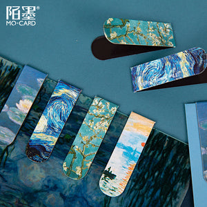 The Art Museum Van Gogh Paiting Magnetic Metal Bookmark Page Flag Book Mark Paper Clip School Office Supply Stationery