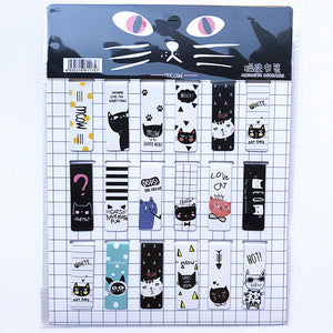 18pcs/set Cat Heart Magnetic Bookmark Luminous Cute Cartoon Animals Daily Magnet Book Mark Children Gift Bookmarks for books