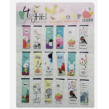 Load image into Gallery viewer, 18pcs/set Cat Heart Magnetic Bookmark Luminous Cute Cartoon Animals Daily Magnet Book Mark Children Gift Bookmarks for books