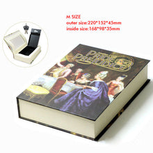 Load image into Gallery viewer, Book Safes Key Lock Type High Quality Secret Book Hidden Security Safe Box Metal Steel Simulation Classic Book Style Size M