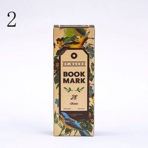 28Pcs/Box Retro Art Bookmark Cute Starry Sky Book Mark Fruit Plant Paper Reading Marker For Kids School Supplies Stationery