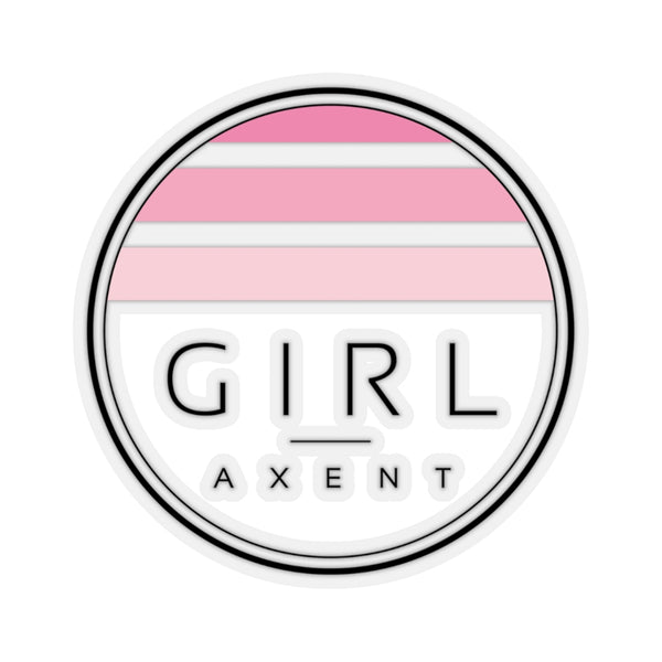 Girl Pink Sunset Sticker