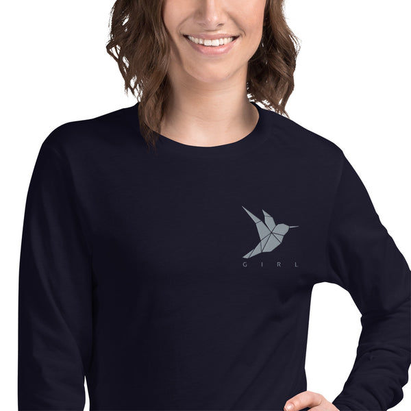 Hummingbird Embroidered Tee