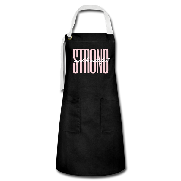 Strong & Beautiful Apron - black/white