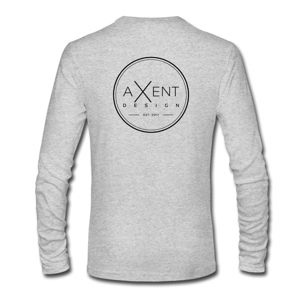 Axent Design Long Sleeve Tee - heather gray