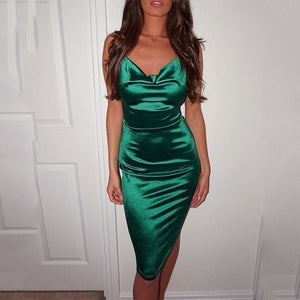 Fashion Women Sexy Spaghetti Strap Bodycon Dress Party Club Dress