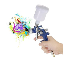 Load image into Gallery viewer, 0.8/1mm Mini HVLP Air Spray Gun Airbrush Kit Touch Up Paint Sprayer Gravity Feed Air Brush Set