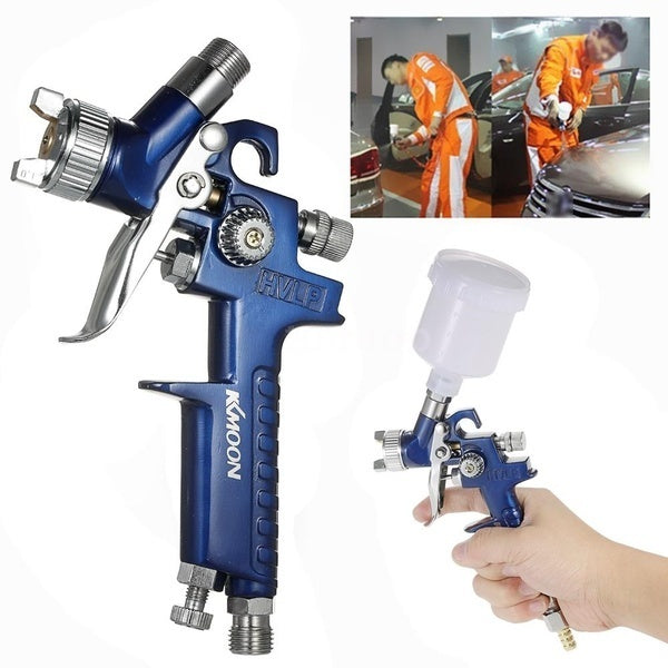 0.8/1mm Mini HVLP Air Spray Gun Airbrush Kit Touch Up Paint Sprayer Gravity Feed Air Brush Set