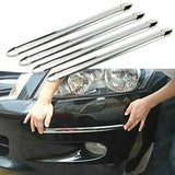 4pcs Car Anti-collision Strip Bumper Protector Car Crash Bar Anti-rub Bar Retail Bumper Crash Styling Mouldings