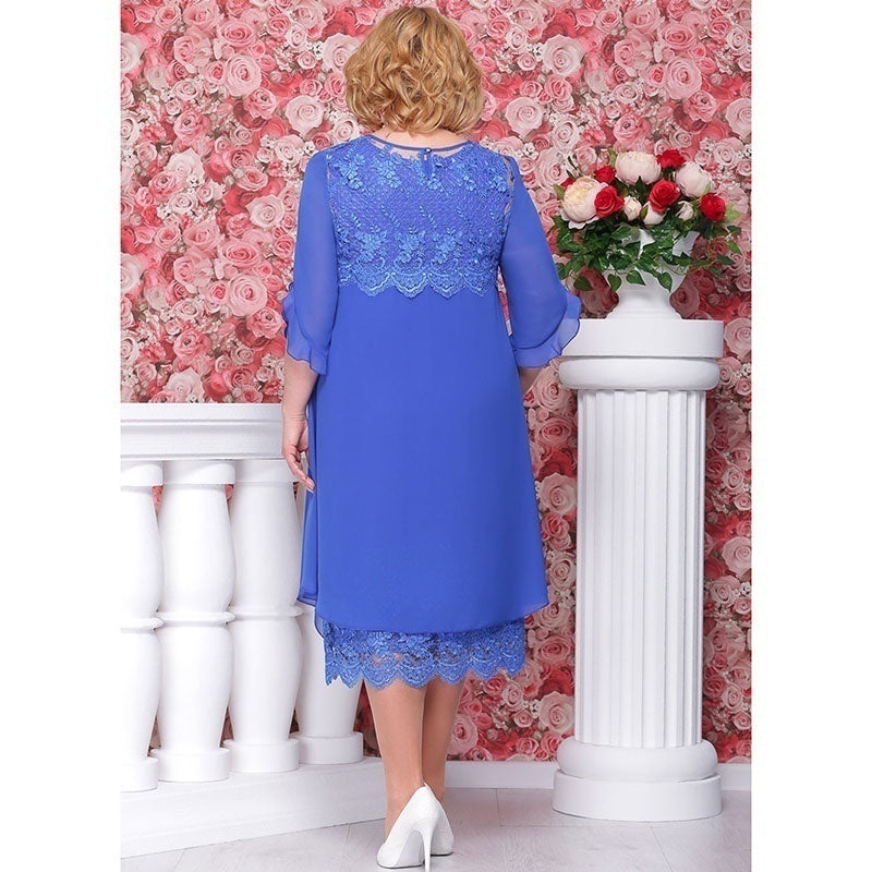 Women Fashion Wedding Mother of The Bride Dress Groom Dress Lace Chiffon Dress Party Dress Evening Dress Plus Size