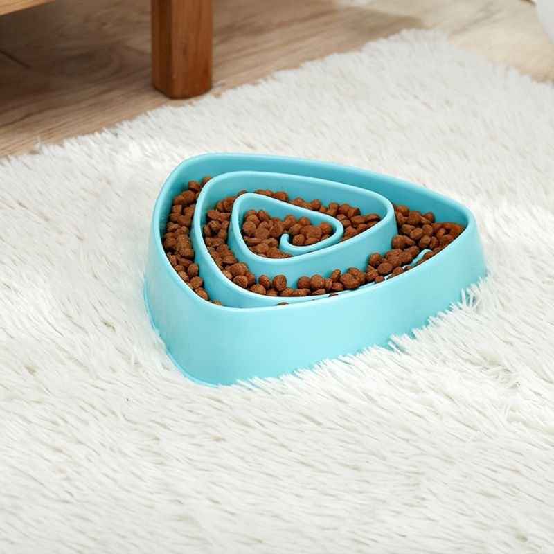 Pet Slow Feeder Dog Cat Training Food Bowl Puppy Kitten Feeding Avoid Choke Feeder   JIK