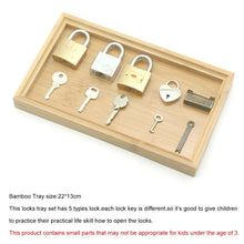 Load image into Gallery viewer, Montessori Color Matching Lock Set montessori toys for 2 3 4 5 year olds