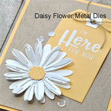 New 3pcs Daisy Flower Metal Cutting Dies Flower Embossing Dies Stencil for DIY Album Card Making Scrapbooking