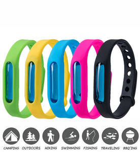 5pcs Mosquito Pest Insect Bugs Repellent Repeller Wrist Band Bracelet Wristband