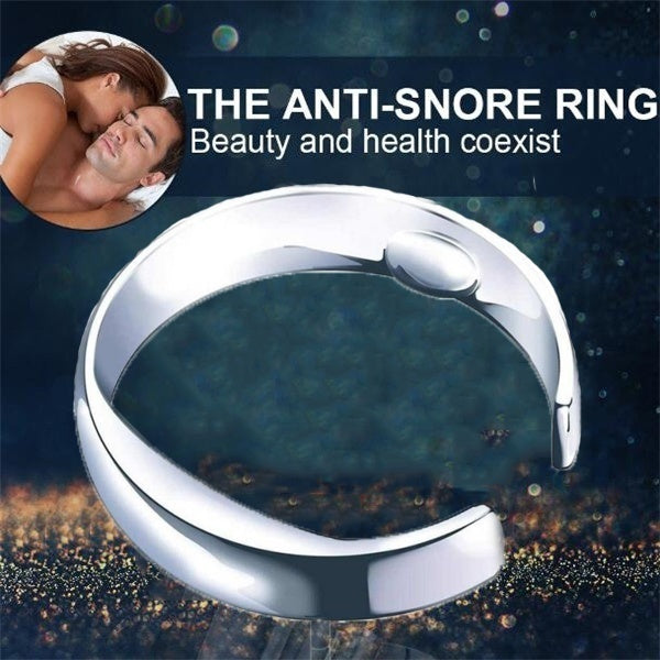 Acupressure Anti Snore Ring Titanium Alloy Treatment Reflexology Anti Snoring Sleeping Aid Device