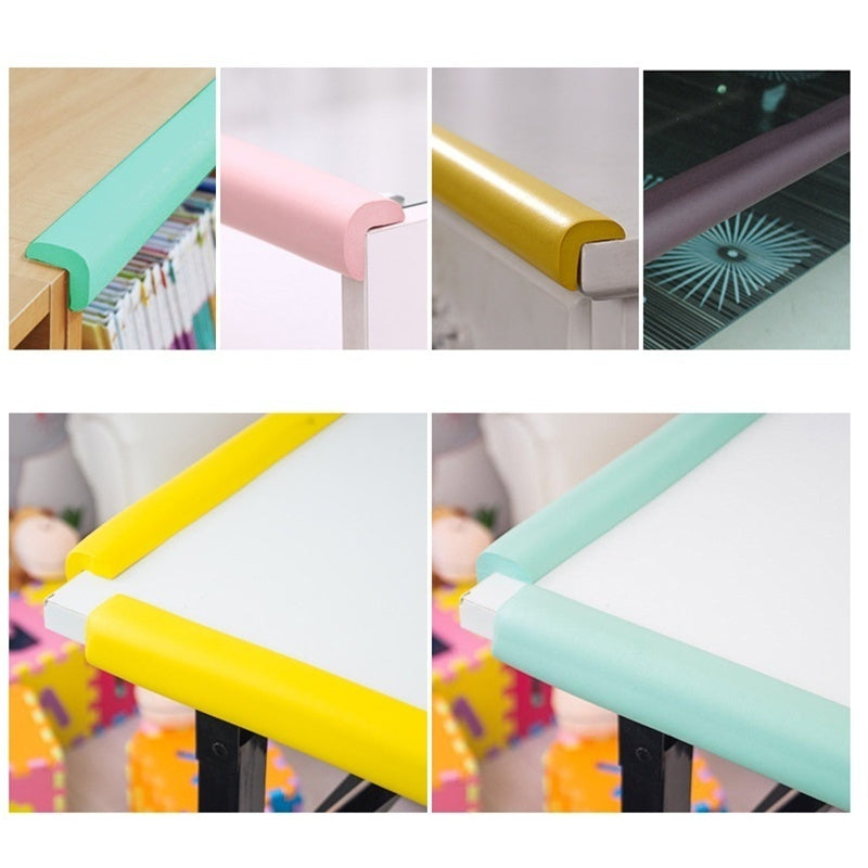 2M Edge Cushion+4Pcs Corner Cushion Softener Table Guard Strip Cushion Bumper desk Edge Baby Safety Protector Corner