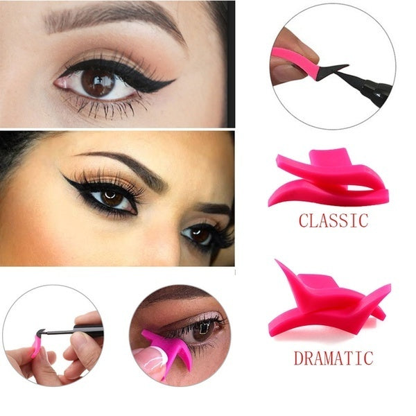 1pair Women Eyeliner Mold Wings Seal Stamps Easy To Wear Eyes Wing Liquid Eye Liner Tools for Lady
