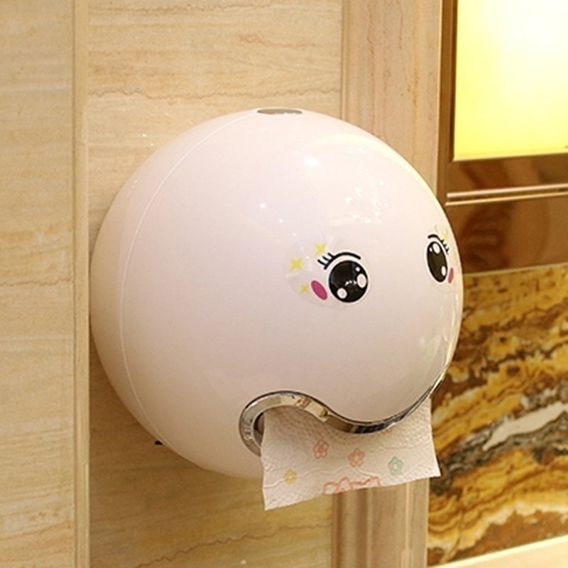 New Creative Toilet Tissue Holder Wall Mount Roll Paper Box Waterproof Rack Cute Emoji Cartoon Bathroom Accessories 14 Colors