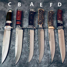 Load image into Gallery viewer, 12 Inch BOWIE Fixed Blade Straight Knife Hunting Knife Outdoor Camping Survival Knife