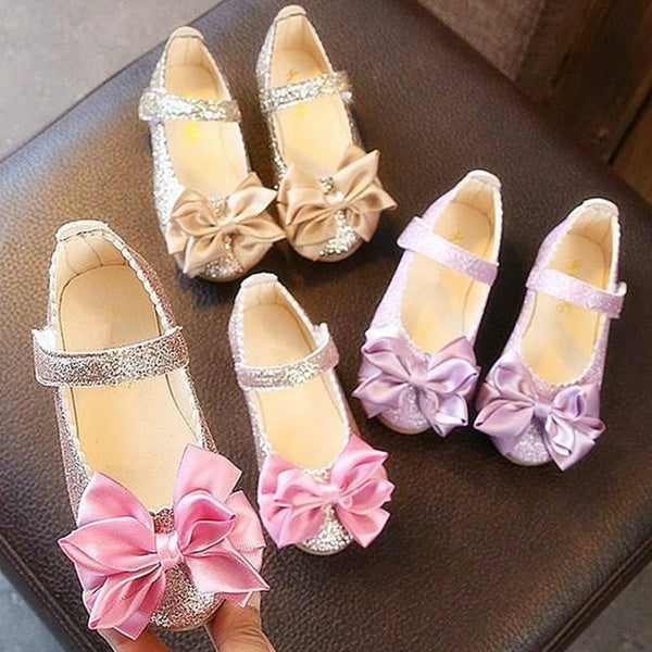 Children's Bow Sandals Princess Dance Flats Shoes