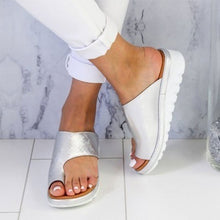 Load image into Gallery viewer, Women's Fashion Beach Slippers Leather Wedges Open Toe Shoes Ladies Platform Slippers Plus Size